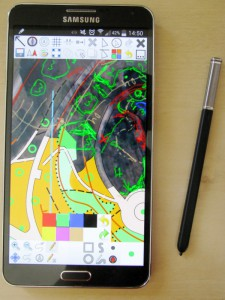 OO Mapper for Android på Galaxy Note 3